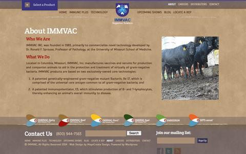 Screenshot of About Page immvac.com - About IMMVAC | IMMVAC - captured Oct. 3, 2014