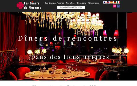 Screenshot of Home Page les-diners-de-florence.com - Les dîners de Florence / Rencontres de qualité - captured Oct. 28, 2018