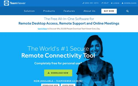 The #1 Choice in Remote Desktop Access and Support | TeamViewer