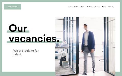Screenshot of Jobs Page inkefcapital.com - Careers - Inkef capital - captured July 26, 2018