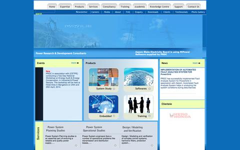 Screenshot of Home Page prdcinfotech.com - PRDC - captured Oct. 2, 2014