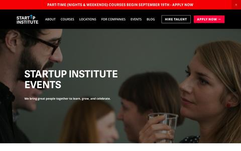 Community Driven Events for the Boston and NYC Startup Communities. | Startup Institute