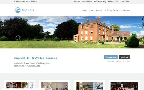 Screenshot of Home Page sugnall.co.uk - Sugnall Hall & Walled Gardens - captured Oct. 19, 2018