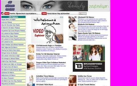 Screenshot of Home Page ciltguzellikrehberi.com - Cilt Bakımı, Güzellik Sırları, Cilt Lekeleri, Sivilce İzleri, Bitkisel Cilt Bakımı, Cilt Maskeleri, Yüz Maskeleri, - captured Sept. 19, 2014