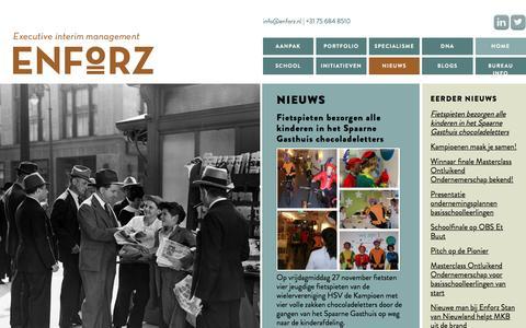 Screenshot of Press Page enforz.nl - News | Enforz - captured Jan. 29, 2016