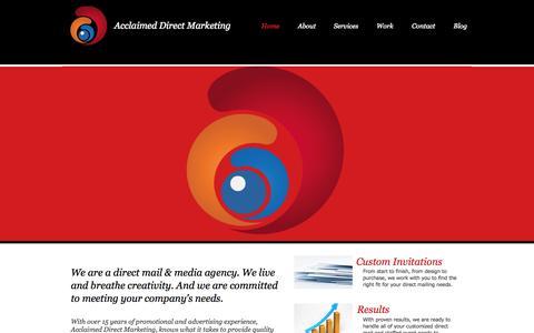 Screenshot of Services Page accldm.com - accldm - captured Oct. 4, 2014