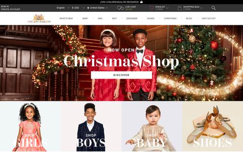 Screenshot of Home Page childrensalon.com - Kids Designer Clothes | Childrensalon - captured Nov. 21, 2018