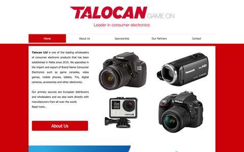 Screenshot of Home Page talocanltd.com - Talocan Ltd | Consumer electronics, game consoles, mobile phones - captured Dec. 20, 2018