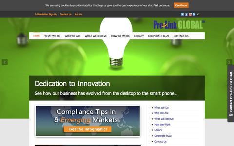 Screenshot of Home Page pro-linkglobal.com - Pro-Link GLOBAL | Corporate Global Visa & Immigration Services - captured July 16, 2016