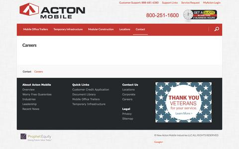 Screenshot of Jobs Page actonmobile.com - Contact | Acton Mobile - captured July 6, 2017