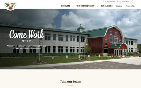 Work With Us   Organic Valley