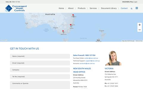 Screenshot of Contact Page cwc.com.au - CWC |   Contact - captured Sept. 27, 2018