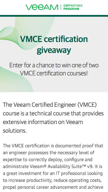 Enter to win two VMCE certification courses