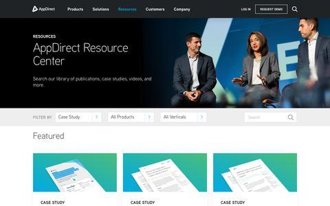 Screenshot of Case Studies Page appdirect.com - Resources - AppDirect - captured Nov. 28, 2018
