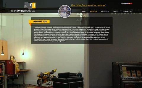 Screenshot of About Page grandviewproducts.com - Electronic Roulette Machine - captured Oct. 3, 2014