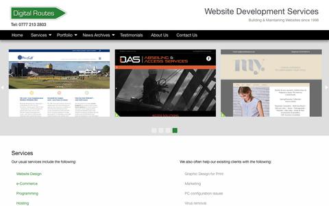 Screenshot of Services Page digitalroutes.co.uk - Web Design Lossiemouth and Elgin, Web Design Moray, Web Design Scotland - Digital Routes Lossiemouth, Moray, Scotland - captured Oct. 21, 2018