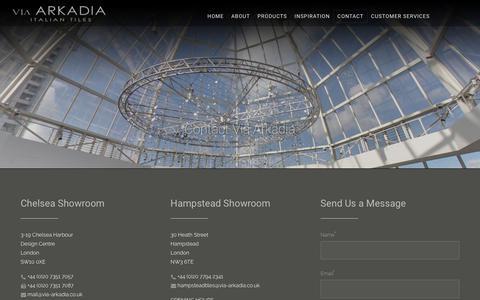 Screenshot of Contact Page via-arkadia.co.uk - Contact Via Arkadia - Via-Arkadia - captured June 18, 2017