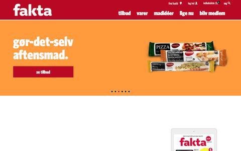 Screenshot of Home Page fakta.dk - Fakta - billig mad, opskrifter og gode tilbud - kig ind i fakta - captured Aug. 3, 2016