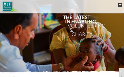 Screenshot of Press Page mjffoundation.org - News and Events - MJF Charitable Foundation, Sri Lanka - captured Oct. 22, 2018