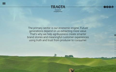 Screenshot of Home Page tracta.co.nz - TRACTA - Champions of Agribusiness - Rural Marketing Agency - captured Jan. 12, 2016