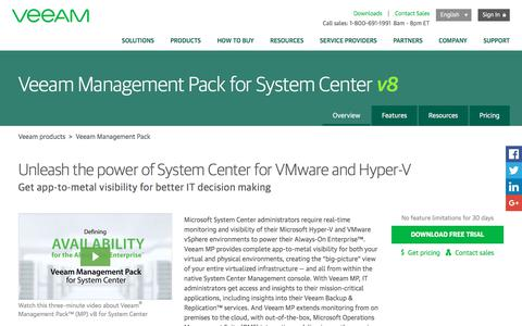 VMware and Hyper-V monitoring in System Center – Veeam Management Pack