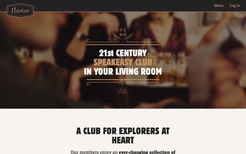 Screenshot of Home Page flaviar.com - Flaviar - A Club for Explorers at Heart - captured July 4, 2016