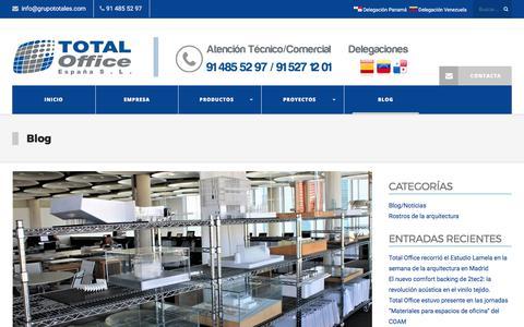 Screenshot of Blog grupototales.com - BLOG | Total Office España - captured Nov. 6, 2017