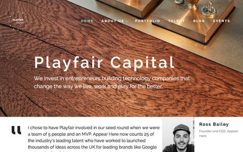 Screenshot of Home Page playfaircapital.com - Playfair Capital - captured Dec. 2, 2015