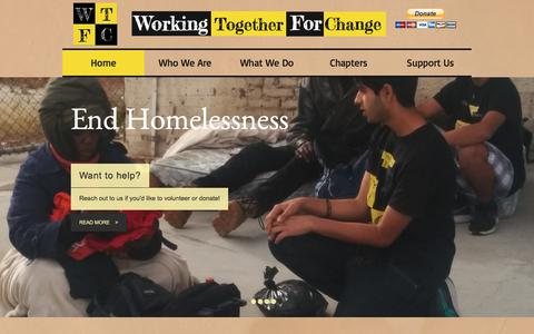 Screenshot of Home Page workingtogetherforchange.com - Working Together For Change WTFC - captured Oct. 22, 2017