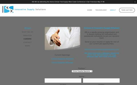 Screenshot of Jobs Page innovativesupplysolutions.com - Careers — Innovative Supply Solutions - captured July 6, 2016
