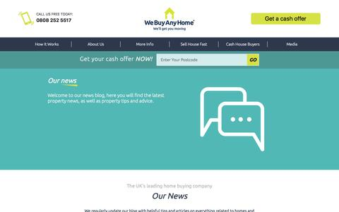 Screenshot of Press Page webuyanyhome.com - Latest Property News, Tips & Advice from We Buy Any Home - captured Sept. 20, 2018