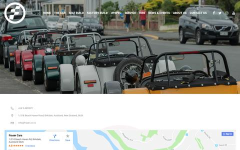 Screenshot of Contact Page fraser.co.nz - Contact Us - Fraser Cars - captured Dec. 19, 2018