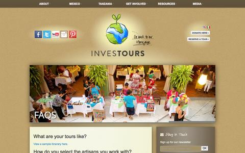 Screenshot of FAQ Page investours.org - FAQs | Investours - captured Oct. 6, 2014