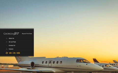 Screenshot of Home Page gajet.com - Georgia Jet  Charter a Private Jet Today - Georgia Jet - captured Jan. 27, 2016