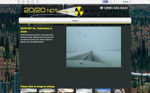 Screenshot of Blog 2020ndt.com - Non-Destructive Testing Pipes Alberta BC | Blog | 20/20 NDT Inc. - captured Oct. 27, 2014