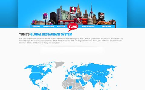 Screenshot of Maps & Directions Page yum.com - Yum! Brands - Defining Global Company that Feeds the World - captured Nov. 17, 2015