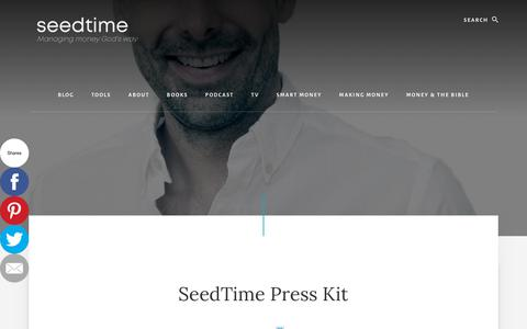Screenshot of Press Page christianpf.com - SeedTime Press Page - captured July 4, 2018