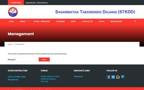Screenshot of Team Page sdojang.com - Management – STKDD - captured Oct. 26, 2018