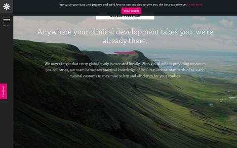 Screenshot of Locations Page prahs.com - Global Presence - captured Nov. 22, 2018