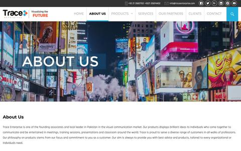 Screenshot of About Page traceenterprise.com - Visual Communication Products | Trace Enterprise - captured Dec. 11, 2018