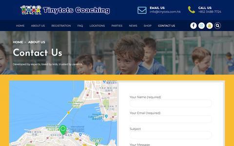 Screenshot of Contact Page tinytots.com.hk - Contact Us - captured Oct. 20, 2018