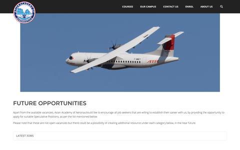 Screenshot of Jobs Page aaa-fta.com - Career - AAA - captured Oct. 4, 2018