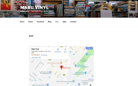 Screenshot of Maps & Directions Page wordpress.com - Map – Mabu Vinyl - captured Oct. 24, 2018
