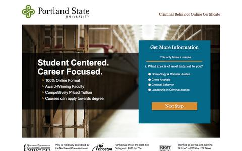 Screenshot of Landing Page pdx.edu - lpppc-cert-cb | Home - captured May 5, 2016