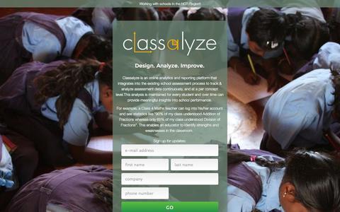 Screenshot of Signup Page classalyze.com - Classalyze - Design. Analyze. Improve. - captured Oct. 7, 2014