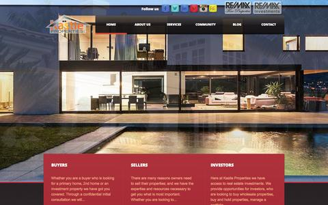 Screenshot of Home Page kastlellc.com - Kastle Properties LLC - captured Oct. 6, 2014