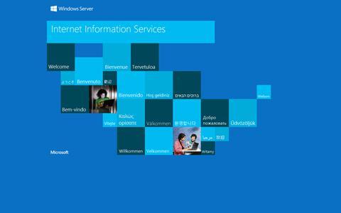 Screenshot of Home Page vcomm.be - IIS Windows Server - captured Sept. 21, 2018