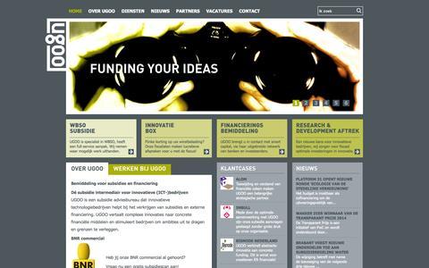Screenshot of Home Page ugoo.nl - Home | UGOO - captured Oct. 4, 2014