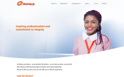Screenshot of Jobs Page sahara-group.com - Sahara Group | CareersSahara - captured July 27, 2018