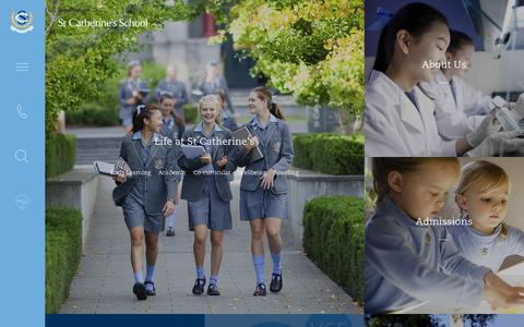 Screenshot of Home Page stcatherines.net.au - St Catherine's School - Early learning to Year 12 - captured Dec. 17, 2016